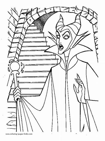 Sleeping Beauty Coloring Witch Pages Disney Wicked