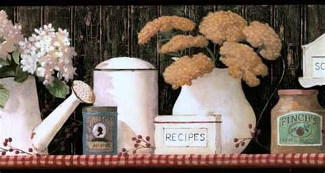country kitchen wallpaper border 17 best images about primitive wall borders on 6174