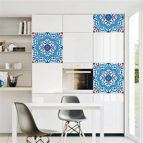 azulejo azul  vinilo decorativo  transformar tu casa