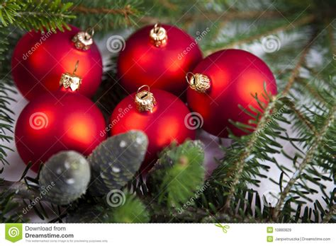 traditional christmas baubles royalty free stock images