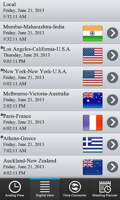 world clock time zone converter meeting planner blackberry