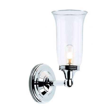 traditional period style bathroom wall light storm glass