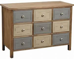 Commode En Pin : commode 9 tiroirs en pin antique ~ Teatrodelosmanantiales.com Idées de Décoration