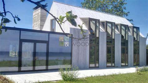 houten huis constructie foto panel houten huizen glass wood ontwerp