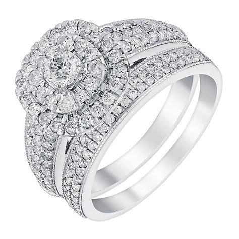 ernest jones 18ct white gold 1ct double halo cushion diamond bridal product number 3395596