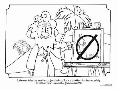 Joshua Coloring Pages Israelites Bible Warning Bookshelf