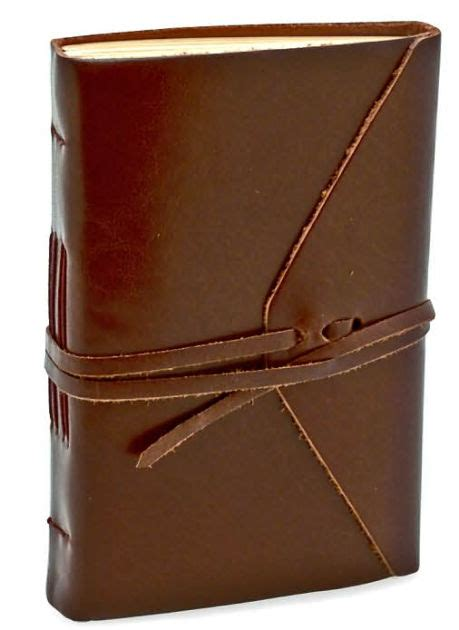 barnes and noble journals bombay brown leather wrap journal with tie 4 quot x 6