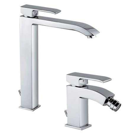 set rubinetti bagno set di miscelatori da bagno paffoni level lavabo alto bidet