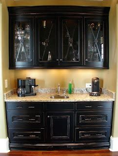 built in coffee bar built in bar the glass cabinet doors also the 4986
