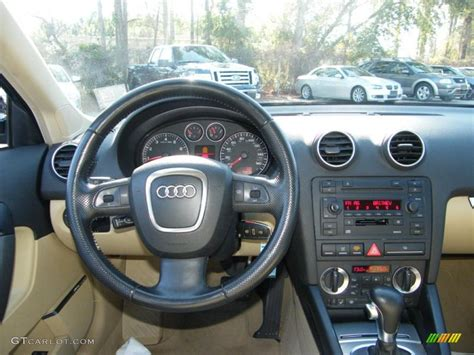 audi a3 dashboard 2007 audi a3 2 0t beige dashboard photo 42610628