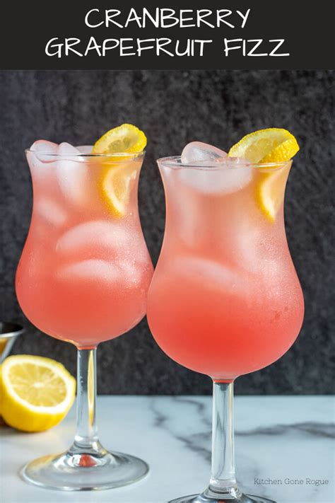 10 Refreshing Summer Cocktail Recipes To Help You Keep Your Cool by Cranberry Grapefruit Fizz Kitchen Rogue