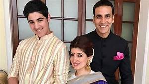 Akshay Kumar with his Wife, Son and Daughter - YouTube
