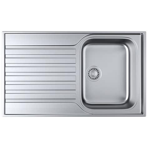 franke inset sink franke ascona asx 611 860 stainless steel 1 0 bowl inset