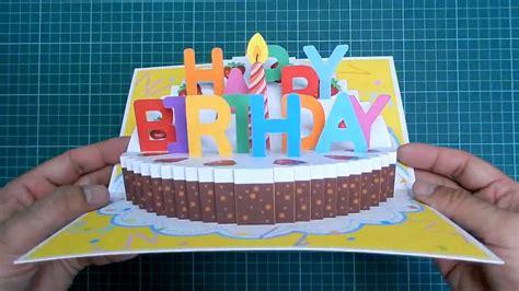 happy birthday cake pop  card tutorial part ii candle