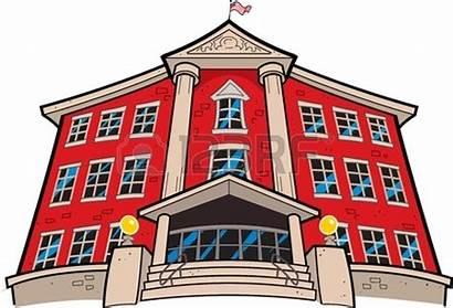 Building Cartoon College University Drawing American Flag
