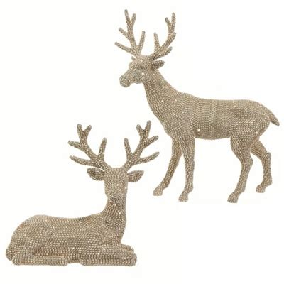 raz imports  rhinestone deer champagne set