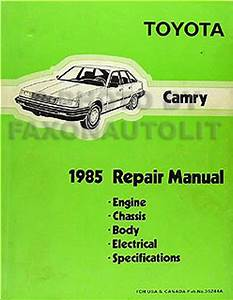 1985 Toyota Camry Original Shop Repair Manual 85 Oem
