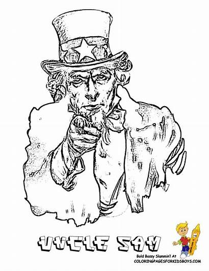 Coloring Symbols Pages Sam Uncle American States