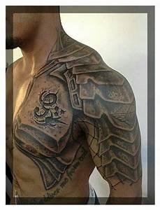 Shoulder armor tattoo | Tats | Pinterest | Armor tattoo ...