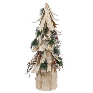 20 inch birch bark berry pine artificial cone christmas tree p137720 vickerman