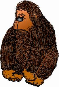 Brown Gorilla Stuffed Toy Clip Art at Clker.com - vector ...