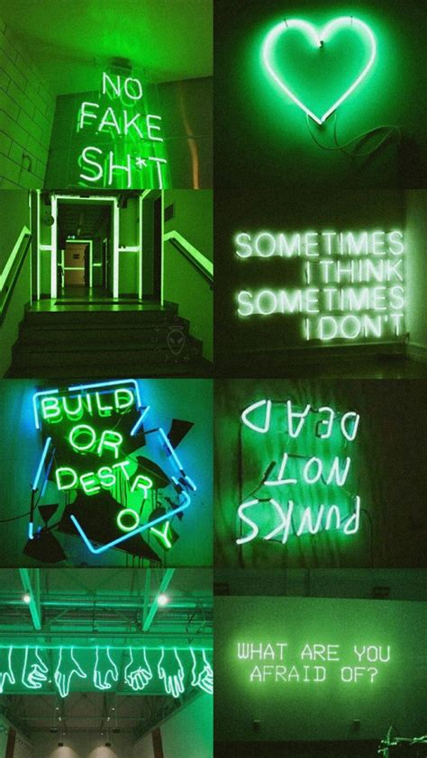 Aesthetic Neon Iphone Wallpaper by Green Aesthetic Collages In 2019 Neon Wallpaper Green