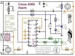 A Cmos 4060 Burglar Alarm Circuit
