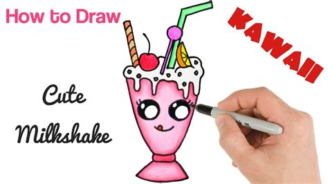 How To Draw A Milkshake Cute And Easy Step By Step