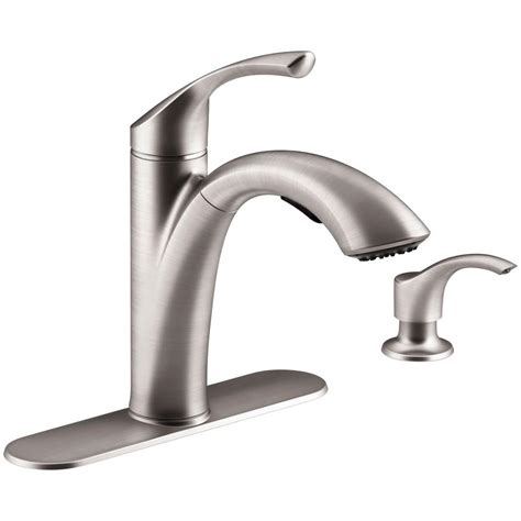 kitchen faucets at home depot kohler mistos single handle pull out sprayer kitchen