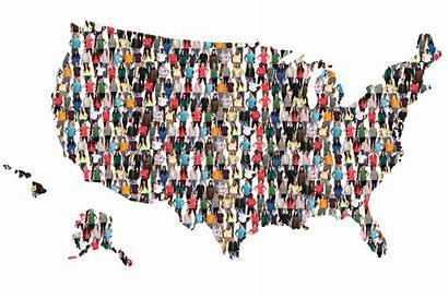 Usa United States Map Multicultural Integration Staten