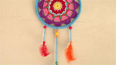 How To Make A Colorful Mandala Dreamcatcher  Diy Home
