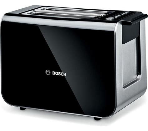 bosch toasters uk buy bosch styline tat8613gb 2 slice toaster black free