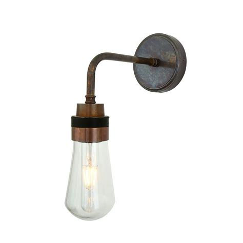 industrial wall light in antique brass grace glory home