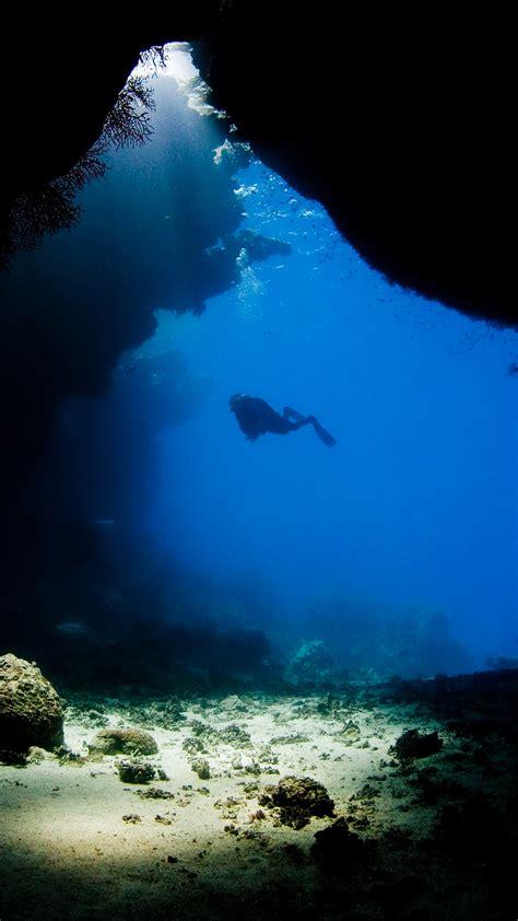 underwater cave wallpaper  wallpapersafari