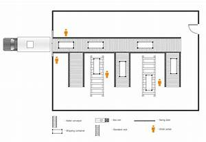Warehouse layout floor plan Warehouse with conveyor