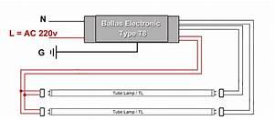 Rangkaian Lampu Tl Dengan Ballast Elektronik