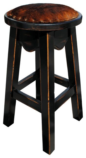 Cowhide Bar Stools Sale - toro western swivel pub stool cowhide transitional