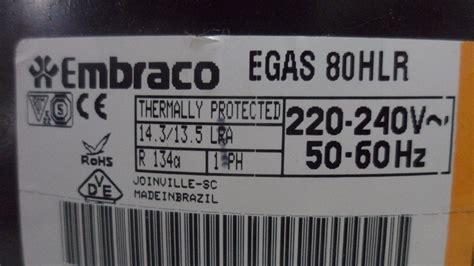 motor compressor para geladeira embraco egas80hlr 1 4 novo r 290 00 em mercado livre