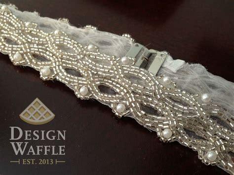 diy beaded belt for wedding dress diy beaded wedding dress belt ps it s much easier