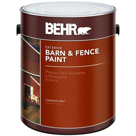 Behr 1 Gal Red Barn And Fence Exterior Paint02501  The