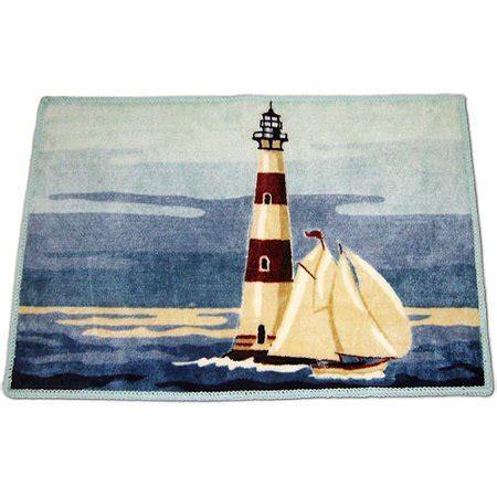 Lighthouse Bath Rugs by Painterly Lighthouse Bath Rug Walmart