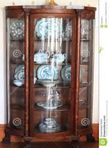 antique china cabinet stock photo image  hardwood