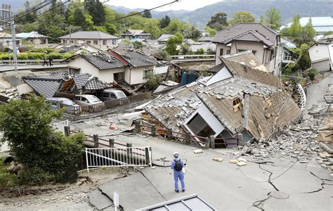 Earthquake Images Ozu Japan Some Sleep In Cars After 2 Nights Of Quakes