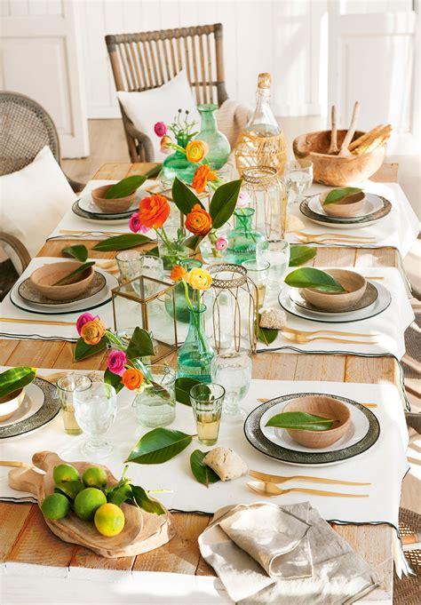 decorar la mesa de primavera