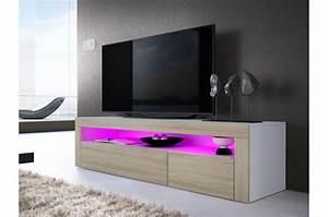 Banc Tv Design : meuble tv bas moderne dylan cbc meubles ~ Teatrodelosmanantiales.com Idées de Décoration