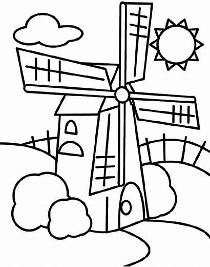 Windmill Coloring Pages Crayola Wind Drawing Windmills