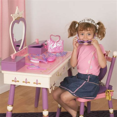 princess vanity table princess vanity table chair set by levels of discovery