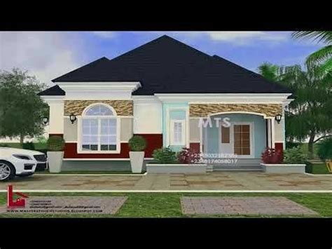 pictures   bedroom bungalow house plans  nigeria youtube bungalow house plans