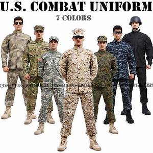 7 colors of us combat uniform | USA Military uniform ...