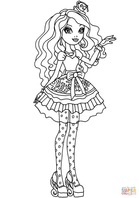 Coloriage Ever After High Madeline Hatter Coloriages